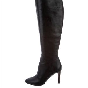 Burberry leather knee high boots